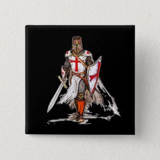 Badge Carré 5 Cm Chevalier de Templar
