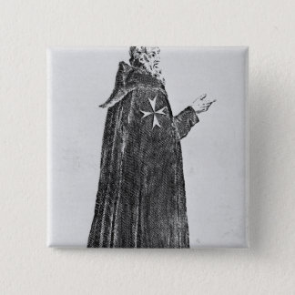 Badge Carré 5 Cm Chevalier Hospitaller dans l'habitude originale