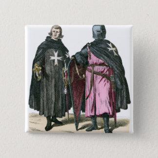 Badge Carré 5 Cm Chevaliers de l'ordre de St John
