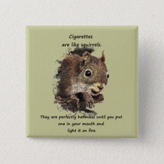 Badge Carré 5 Cm Citation de motivation de tabagisme stoppée drôle