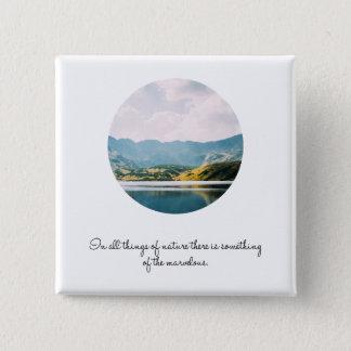 Badge Carré 5 Cm Citation inspirée de photo de cercle de montagne