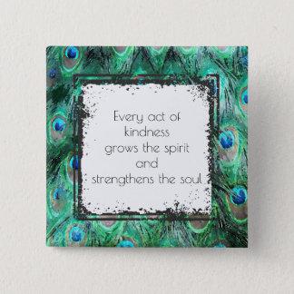 Badge Carré 5 Cm Citation inspirée sur l'esprit et l'âme de