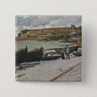 Badge Carré 5 Cm Claude Monet | Sainte-Adresse, 1867