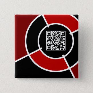 Badge Carré 5 Cm code marron de la boudine QR