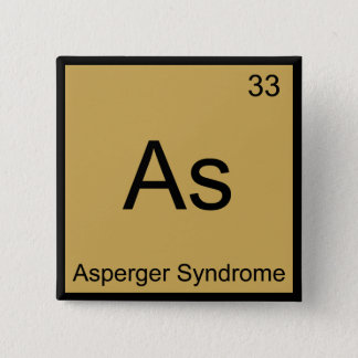 Badge Carré 5 Cm Comme - Pièce en t drôle d'élément de chimie de