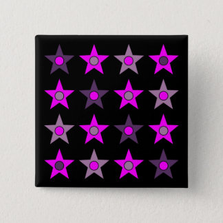 Badge Carré 5 Cm Conception pourpre d'étoile