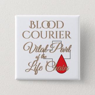 Badge Carré 5 Cm Conducteur médical de la livraison de messager de