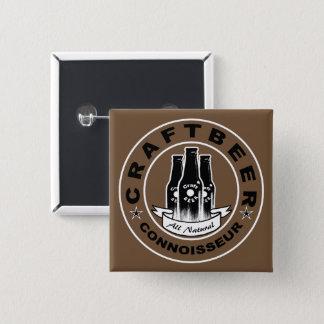Badge Carré 5 Cm Connaisseur Brown de bière de métier