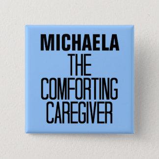 Badge Carré 5 Cm Consolation du travailleur social