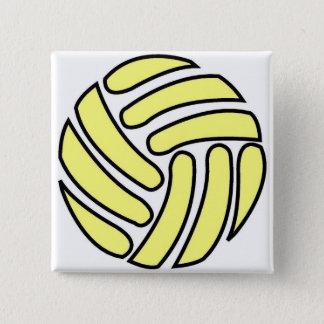 Badge Carré 5 Cm Contour de ballon de football -
