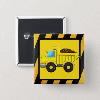 Badge Carré 5 Cm Copie de voiture de camion de construction