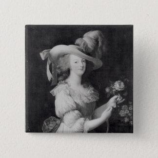 Badge Carré 5 Cm Copie d'un portrait de Marie-Antoinette