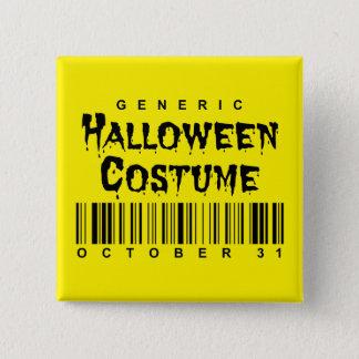 Badge Carré 5 Cm Costume générique de Halloween de code barres