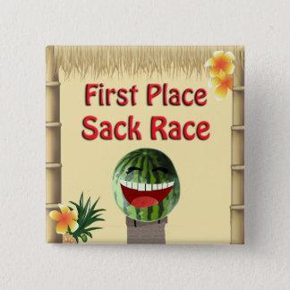 Badge Carré 5 Cm Course de sac à pastèque d'endroit de la hutte 1