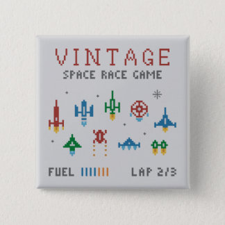 Badge Carré 5 Cm Course vintage de l'espace