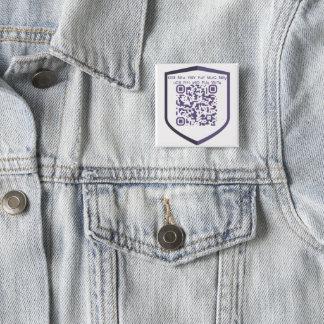 Badge Carré 5 Cm Coutume do-it-yourself de QR-Code de PIVX