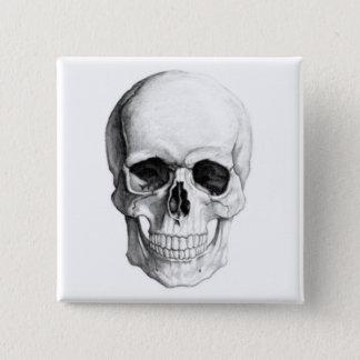 Badge Carré 5 Cm Crâne de sourire