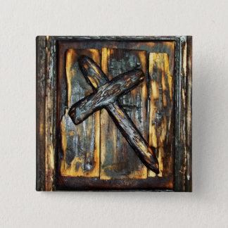 Badge Carré 5 Cm Croix de l'apocalypse