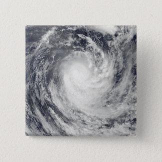 Badge Carré 5 Cm Cyclone Rene au-dessus de l'océan de South Pacific