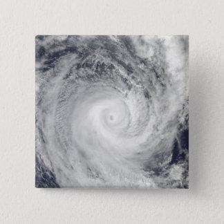 Badge Carré 5 Cm Cyclone tropical Oli outre de la côte du Tahiti