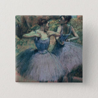 Badge Carré 5 Cm Danseurs d'Edgar Degas | dans la violette