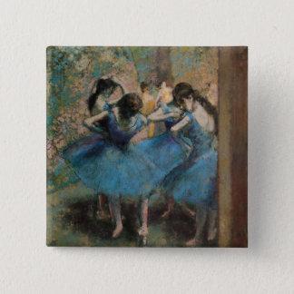 Badge Carré 5 Cm Danseurs d'Edgar Degas | dans le bleu, 1890