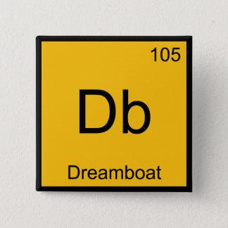 Badge Carré 5 Cm DB - Pièce en t drôle de symbole d'élément de