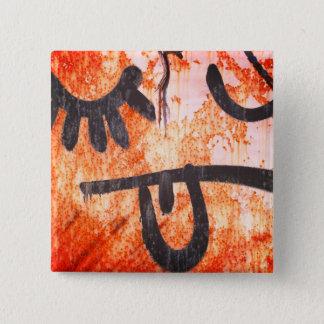 Badge Carré 5 Cm De rue d'art visage berk