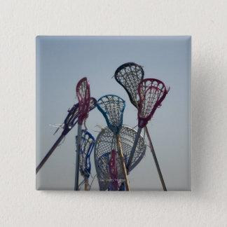 Badge Carré 5 Cm Détails de jeu de lacrosse