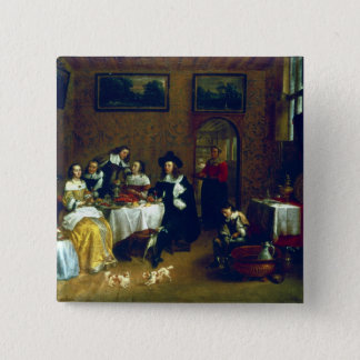 Badge Carré 5 Cm Diner noble de famille