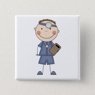 Badge Carré 5 Cm Docteur masculin T-shirts et cadeaux