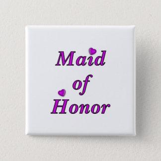 Badge Carré 5 Cm Domestique d'honneur de l'amour simplement