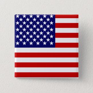 Badge Carré 5 Cm Drapeau américain
