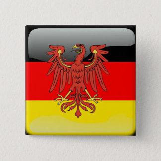 Badge Carré 5 Cm Drapeau brillant de l'Allemagne
