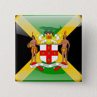 Badge Carré 5 Cm Drapeau brillant jamaïcain