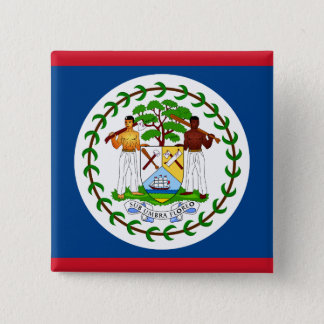 Badge Carré 5 Cm Drapeau de Belize