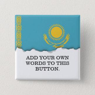Badge Carré 5 Cm Drapeau de Kazakhstan