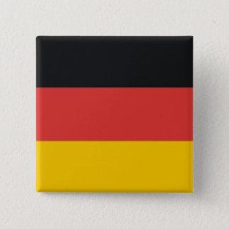 Badge Carré 5 Cm Drapeau de l'Allemagne ou du Deutschland