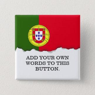 Badge Carré 5 Cm Drapeau du Portugal