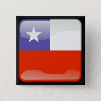 Badge Carré 5 Cm Drapeau poli chilien
