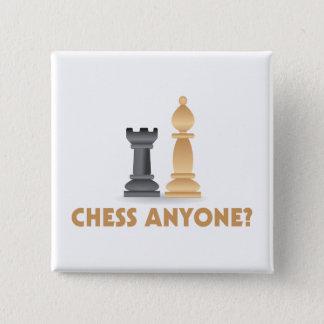 Badge Carré 5 Cm Échecs n'importe qui pièces d'échecs
