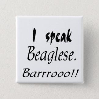 Badge Carré 5 Cm Écorce drôle de beagle