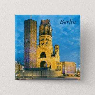 Badge Carré 5 Cm Église commémorative de Kaiser Wilhelm, Berlin
