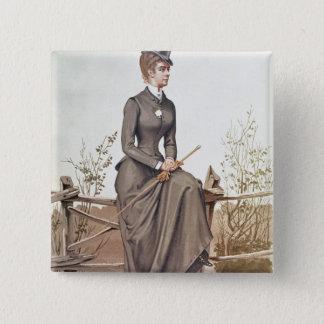 Badge Carré 5 Cm Elizabeth de la Bavière