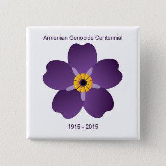 Badge Carré 5 Cm Emblème arménien de Centennial de génocide