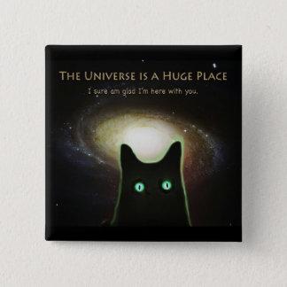 Badge Carré 5 Cm ~ énorme d'univers heureux je suis ici avec vous