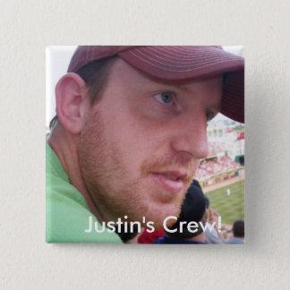 Badge Carré 5 Cm Équipage du point-virgule de Justin !