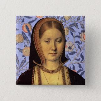 Badge Carré 5 Cm Équipe Aragon - la Reine Catherine de portrait