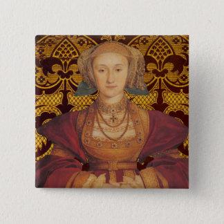 Badge Carré 5 Cm Équipe Cleves - portrait de la Reine Anne de