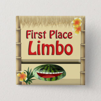 Badge Carré 5 Cm Ęr bouton de vide d'endroit de partie de hutte
